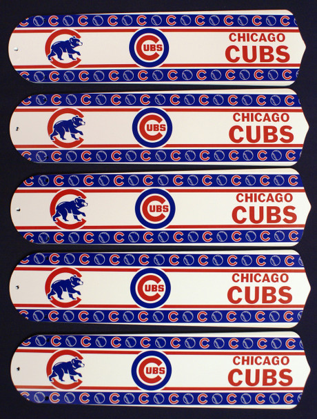 "MLB Chicago Cubs Baseball 52"" Ceiling Fan Blades Only 1"