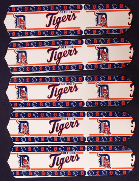 """MLB Detroit Tigers Baseball 52"""" Ceiling Fan Blades Only"""