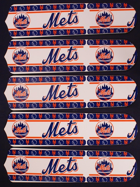 "New York Mets Baseball 52"" Ceiling Fan Blades"