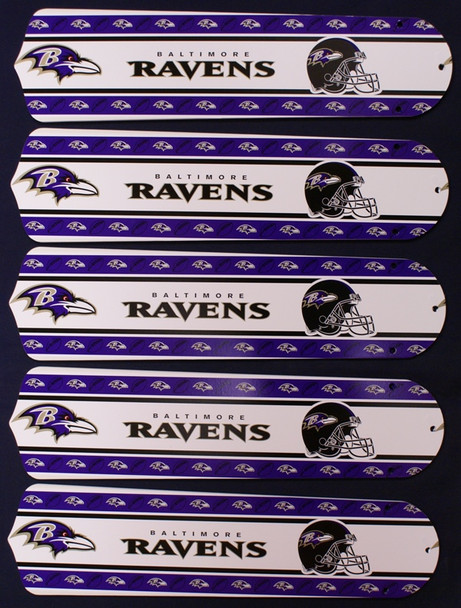 "NFL Baltimore Ravens Football 52"" Ceiling Fan Blades Only 1"
