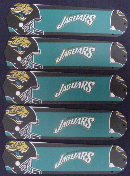 "NFL Jacksonville Jaguars Football 52"" Ceiling Fan Blades Only 1"