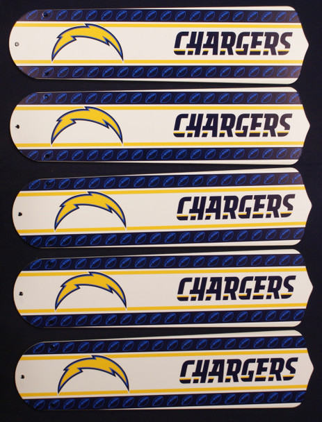 "NFL San Diego Chargers Football 52"" Ceiling Fan Blades Only 1"