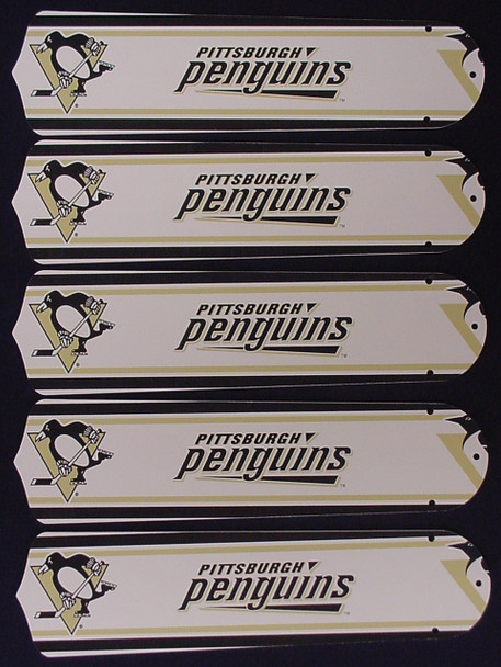 """NHL Pittsburgh Penguins 52"""" Ceiling Fan Blades Only 1"""
