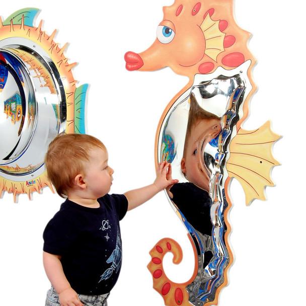 Seahorse Mirror Wall Toy