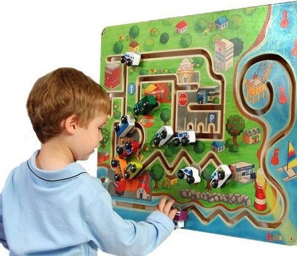 City Transportation Wall Panel Toy Boy