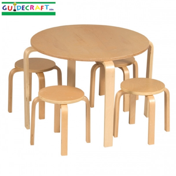 Guidecraft Nordic Table & Chairs Set - Natural 2