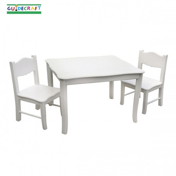 Guidecraft Classic White Table & Chairs Set 2