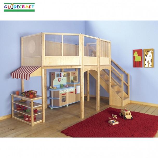 Guidecraft Market Loft - Kitchen and shelves optional