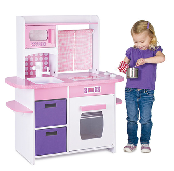 Guidecraft Cooking Delights Kitchen: Pink 2