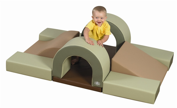 Cozy Woodland Hideout Soft Play Climber