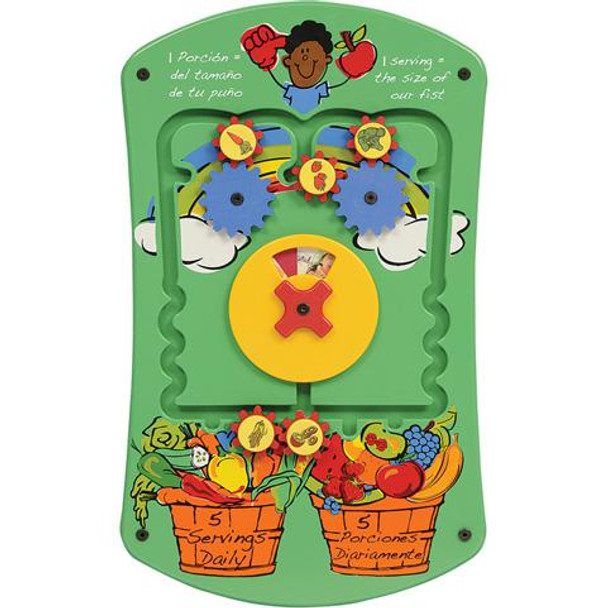 Gressco Fruits and Veggies Wall Activity Panel