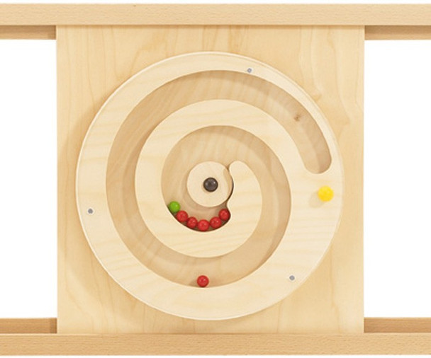 Turning Spiral with Balls Activity Wall Toy - rails optional