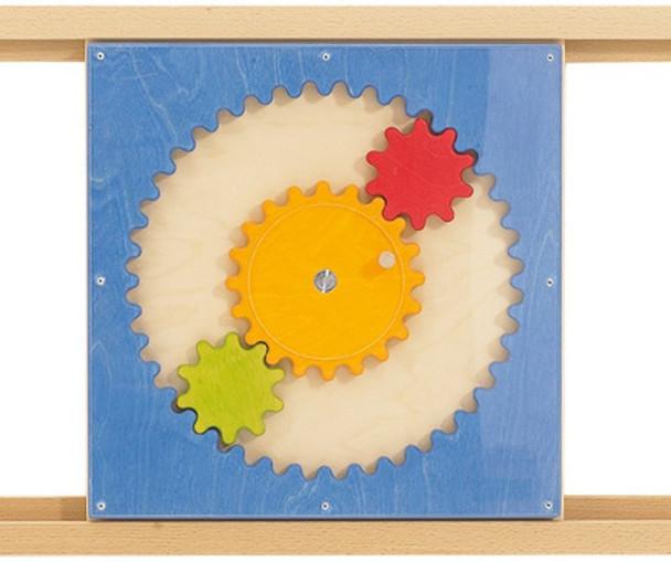 HABA Sensory Wall - Acrylic Gears Toy - rails optional