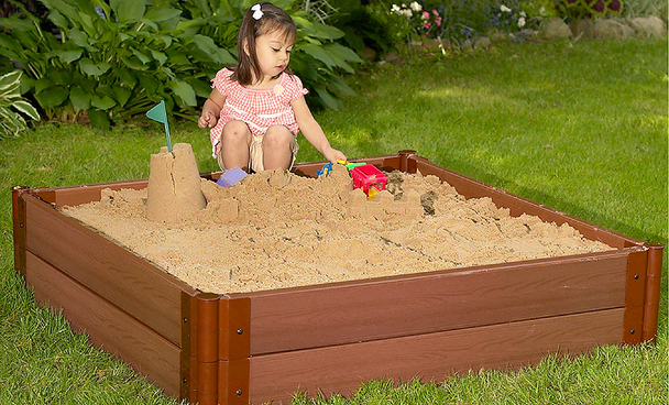 "4' x 4' x 11"" Square Sandbox Kit 1"
