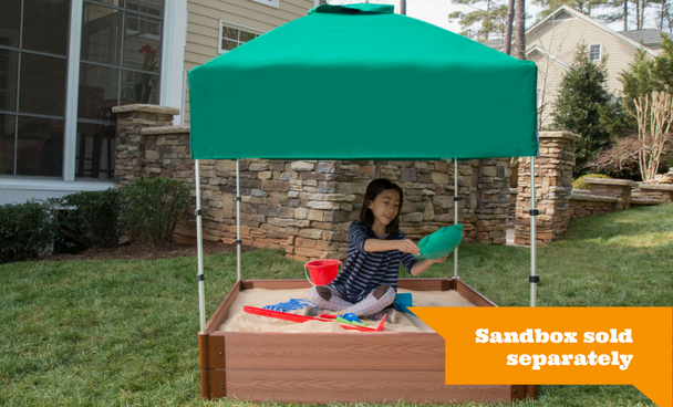 Telescoping Square Sandbox Canopy & Cover