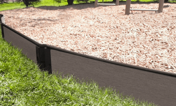 Weathered Wood Straight Playground Border