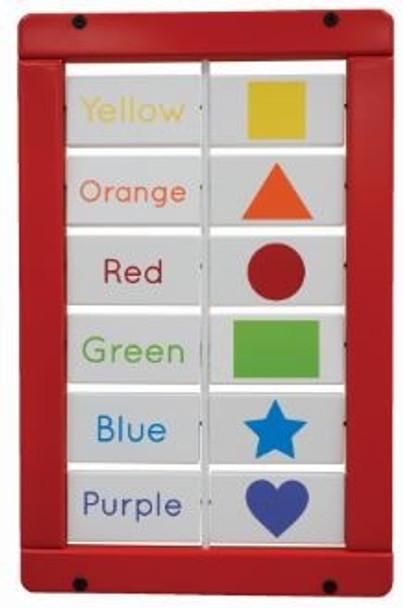 Colors and Shapes Matching Blocks Wall Activity