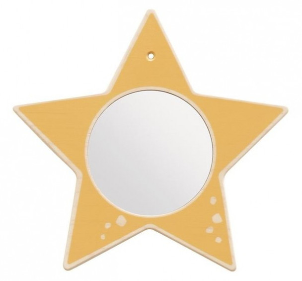 Star Mirror Wooden Play Wall Decoration