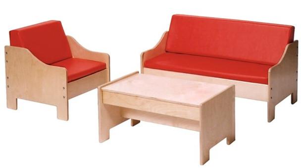 Angeles Children's Furniture Set - Red