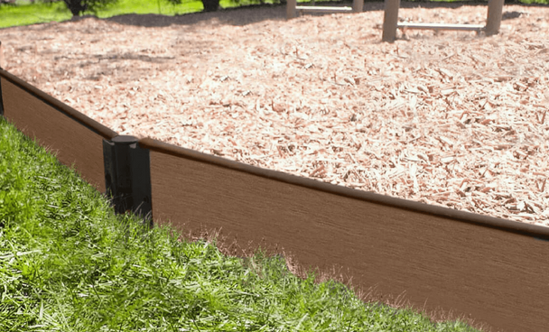"Uptown Brown Straight Playground Border 16' - 1"" Profile"