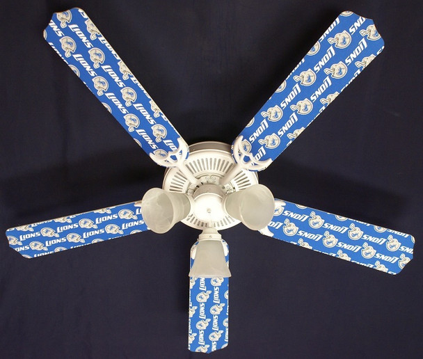 Detroit Lions Ceiling Fan 52""