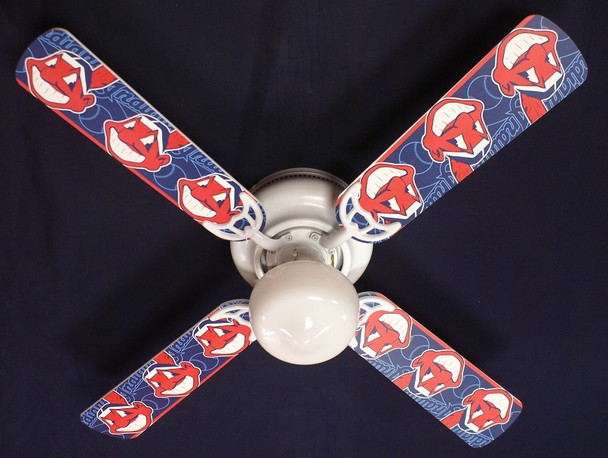Cleveland Indians Baseball Ceiling Fan 42""