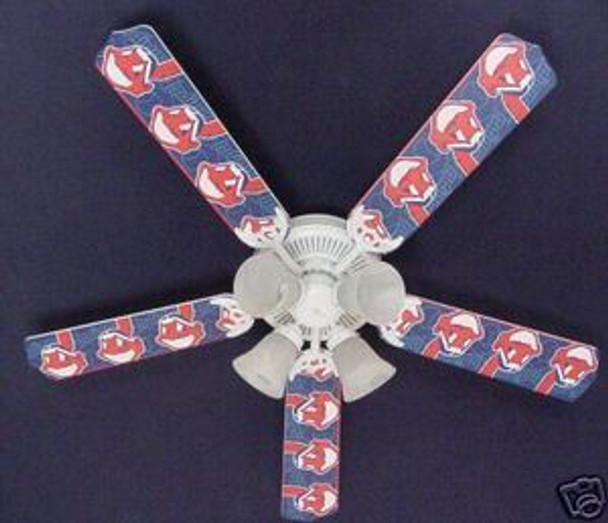 "Cleveland Indians Baseball Ceiling Fan 52"""