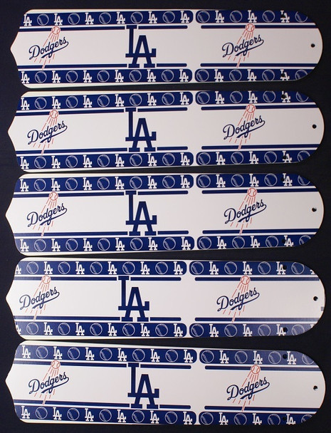 "LA Dodgers Baseball 52"" Ceiling Fan Blades"