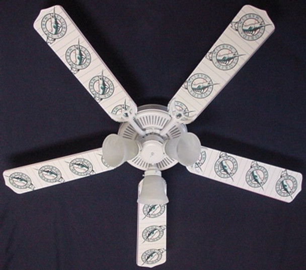 "Florida Marlins Baseball Ceiling Fan 52"""