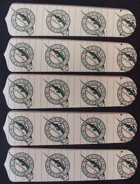 """Florida Marlins Baseball 52"""" Ceiling Fan Blades"""