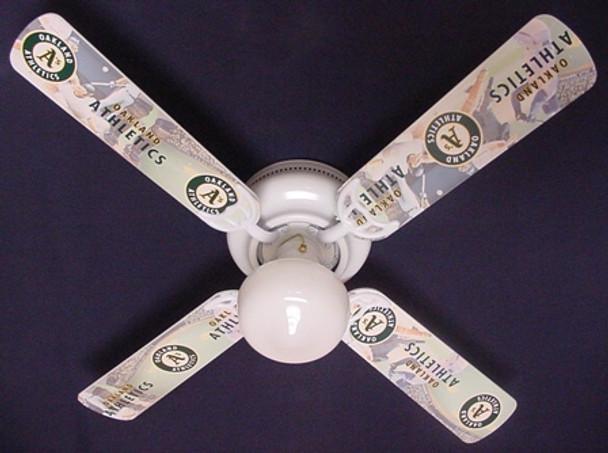 "Oakland Athletics Baseball Ceiling Fan 42"""