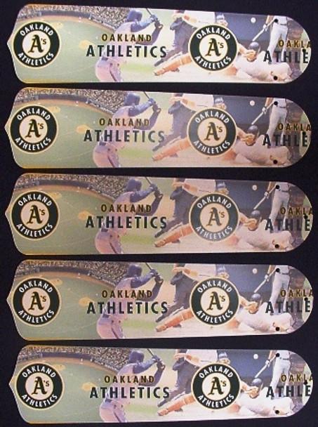 "Oakland Athletics Baseball 52"" Ceiling Fan Blades"