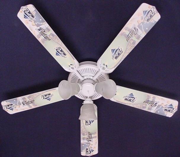 "San Diego Padres Baseball Ceiling Fan 52"""