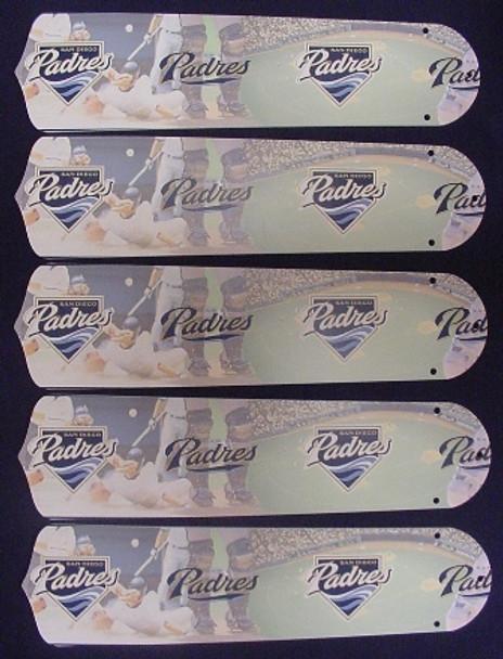 "San Diego Padres Baseball 52"" Ceiling Fan Blades"