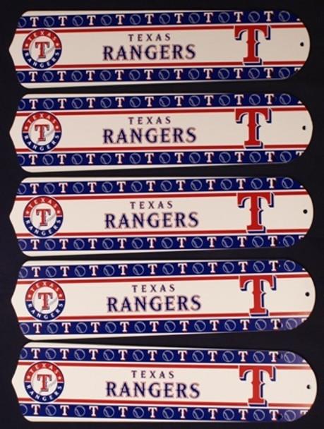 "Texas Rangers Baseball 52"" Ceiling Fan Blades"