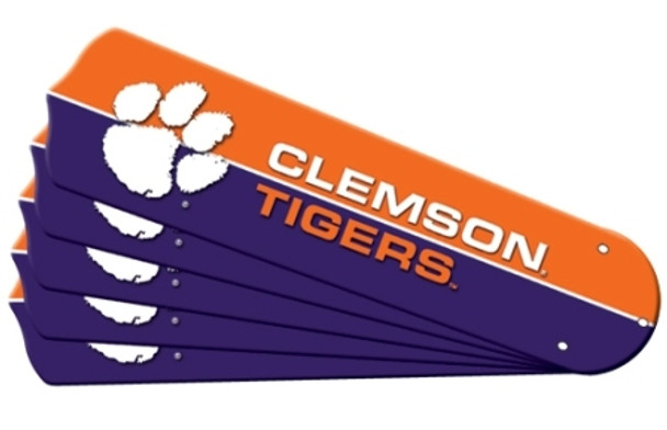 "NCAA Clemson Tigers Ceiling Fan Blades For 52"" Fans"