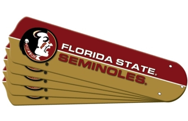 """NCAA Florida State Seminoles Ceiling Fan Blades For 52"""" Fans"""