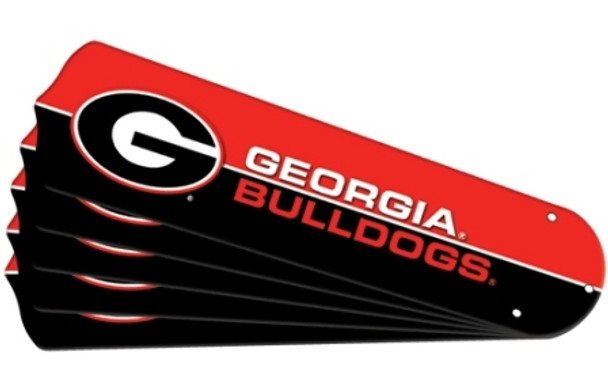 "NCAA Georgia Bulldogs Ceiling Fan Blades For 52"" Fans"