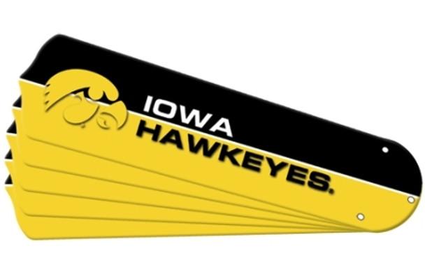 "NCAA Iowa Hawkeyes Ceiling Fan Blades For 42"" Fans"
