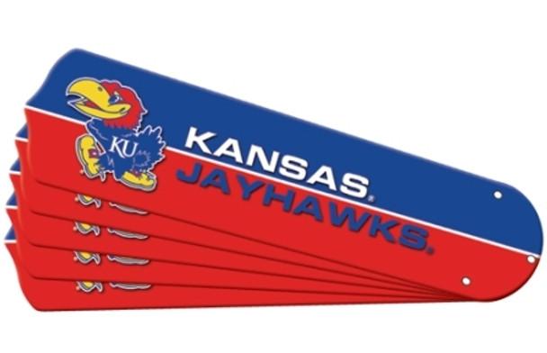 """NCAA Kansas Jayhawks Ceiling Fan Blades For 42"""" Fans"""