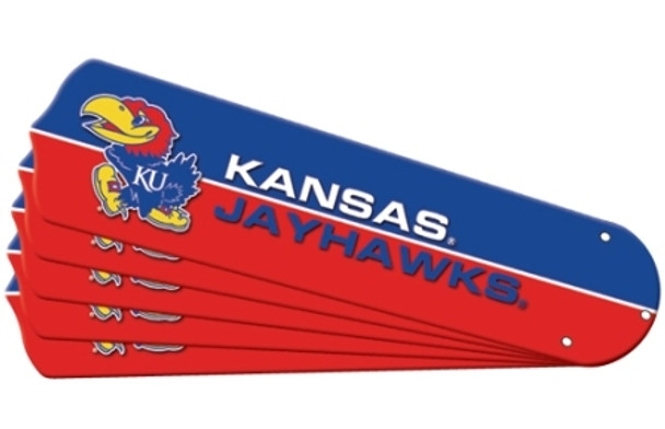 "NCAA Kansas Jayhawks Ceiling Fan Blades For 52"" Fans"