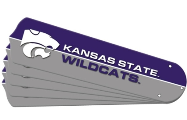 "NCAA Kansas State Wildcats Ceiling Fan Blades For 52"" Fans"