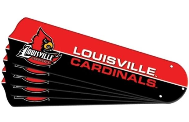 "NCAA Louisville Cardinals Ceiling Fan Blades For 42"" Fans"