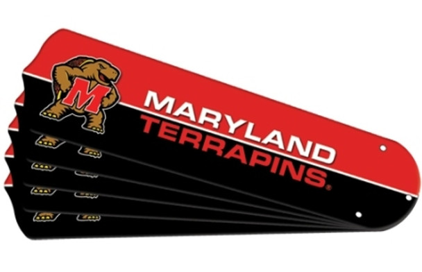 "NCAA Maryland Terrapins Ceiling Fan Blades For 52"" Fans"