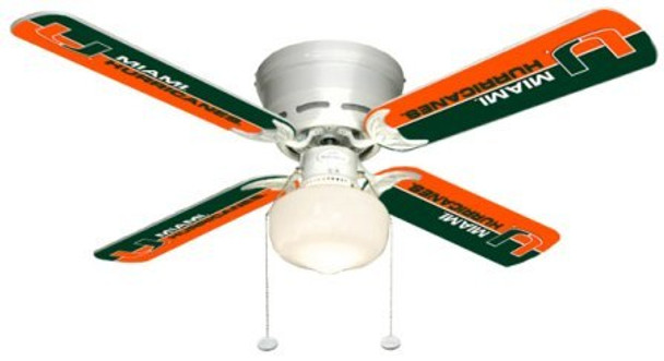 "NCAA Miami Hurricanes 42"" Ceiling Fan"
