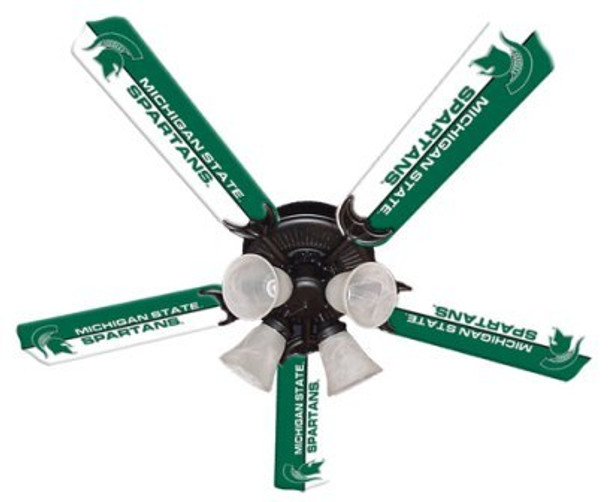 """NCAA Michigan State Spartans 52"""" Ceiling Fan"""