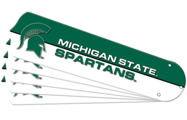 "NCAA Michigan State Spartans Ceiling Fan Blades For 52"" Fans"