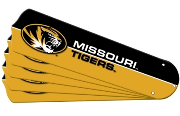 "NCAA Missouri Tigers Ceiling Fan Blades For 52"" Fans"