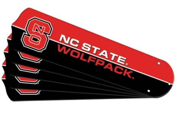 """NCAA NC State Wolfpack Ceiling Fan Blades For 52"""" Fans"""