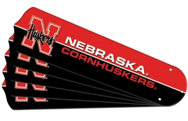 "NCAA Nebraska Cornhuskers Ceiling Fan Blades For 42"" Fans"